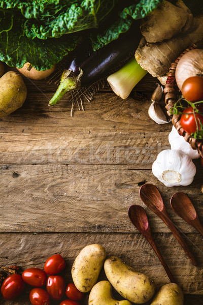 овощей древесины bio здоровое питание травы специи Сток-фото © mythja