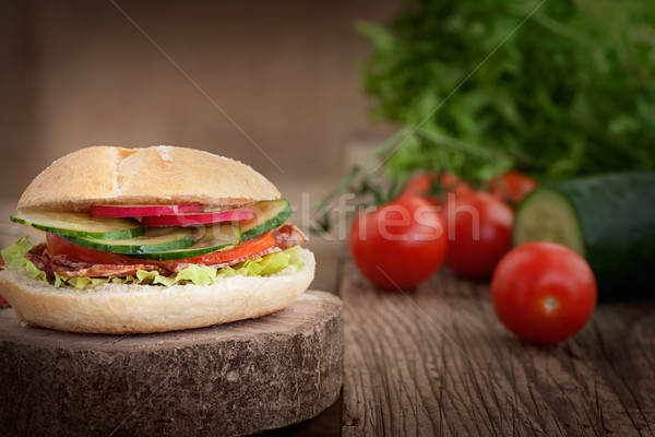 Stock photo: Delicious sandwich