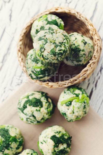 Spinach dumplings Stock photo © mythja