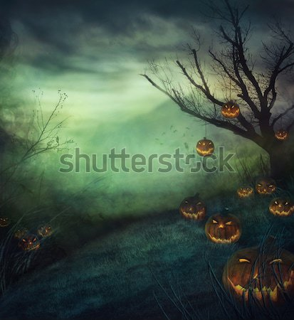 Halloween graveyard Stock photo © mythja