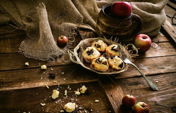 Chocolate batatas fritas amêndoa café da manhã baunilha Foto stock © mythja