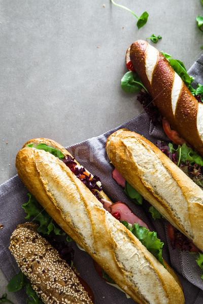 Sándwich hortalizas de comida rápida alimentos fondo club Foto stock © mythja