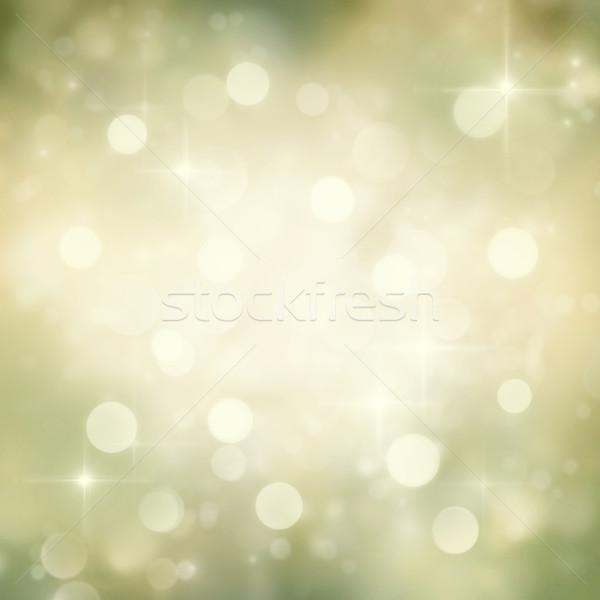 Stok fotoğraf: Bokeh · altın · Noel · soyut · ışıklar