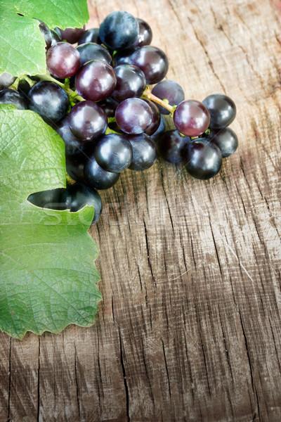 Negro uvas espacio de la copia naturaleza Foto stock © mythja