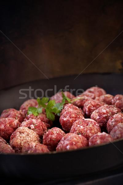 Raw meat balls Stock photo © mythja