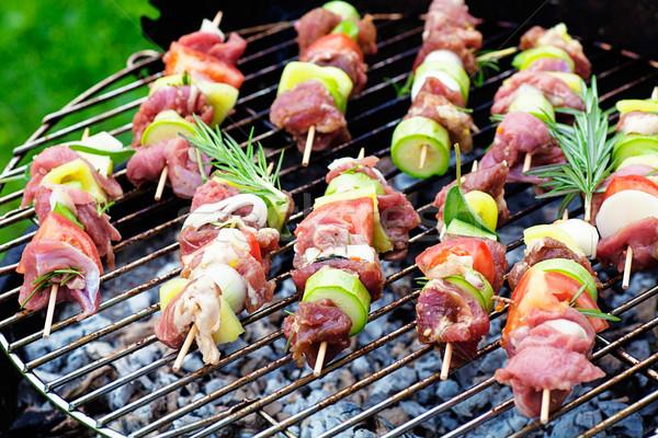 Kebab grill zomer barbecue vlees bbq Stockfoto © mythja