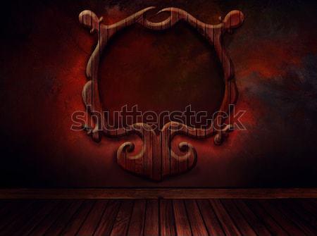 ストックフォト: ヴィンテージ · 階 · 壁 · アンティーク · 芸術
