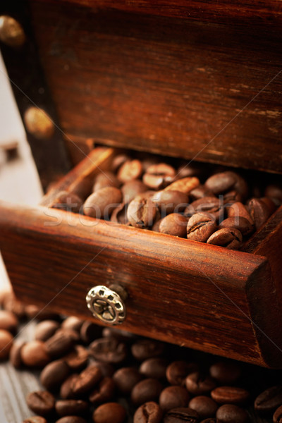 кофе деревенский старые древесины фон Сток-фото © mythja