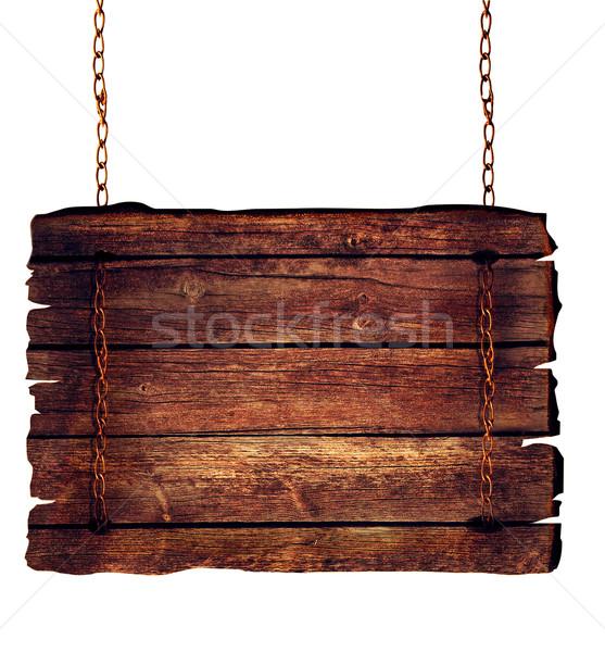 Wooden sign Stock photo © mythja