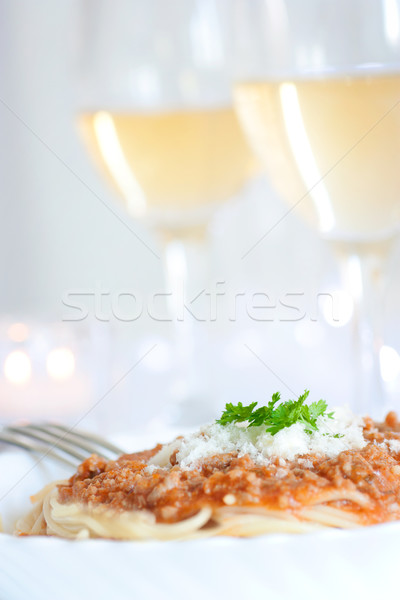 Spaghetti with bolognese sauce  Stock photo © mythja