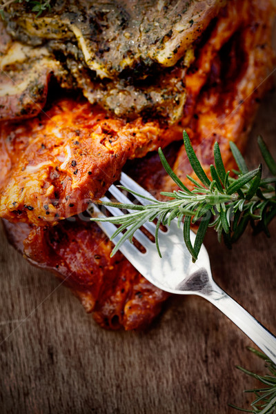 Marinated meat Stock photo © mythja