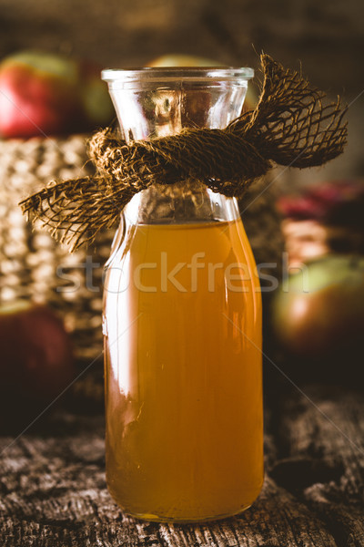 Mela aceto legno bottiglia legno Foto d'archivio © mythja