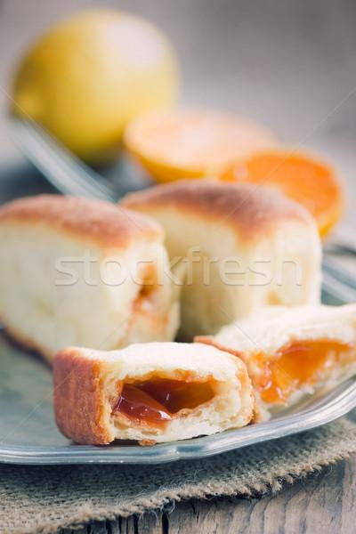 Delicious jam rolls Stock photo © mythja