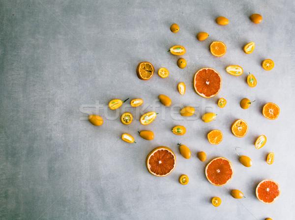 Pomarańczy wybór owoców lata pomarańczowy Zdjęcia stock © mythja