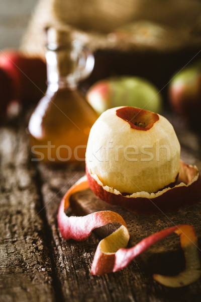 Manzana vinagre botella orgánico saludable Foto stock © mythja