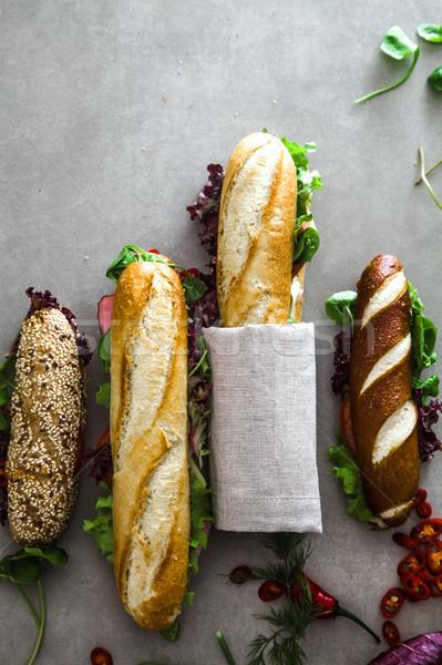 Sandwich verdura fast food alimentare sfondo club Foto d'archivio © mythja
