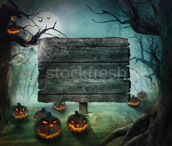 Halloween design forêt horreur automne Photo stock © mythja