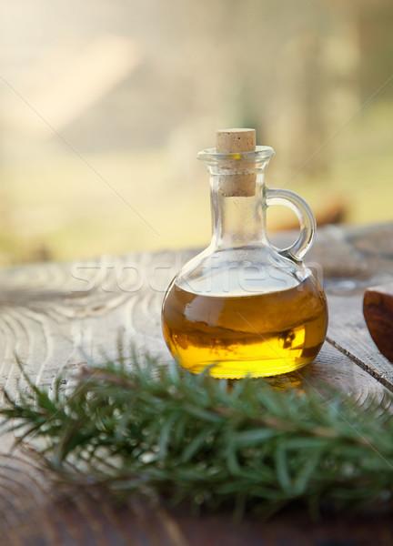 Extra szűz olívaolaj egészséges friss rozmaring Stock fotó © mythja