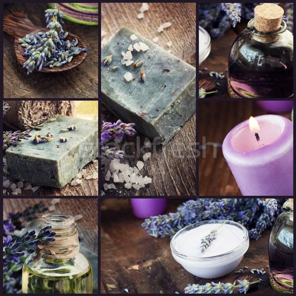 Lavender dayspa collage Stock photo © mythja