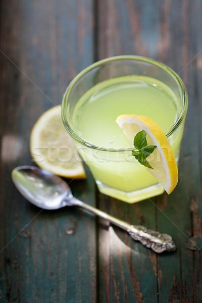 Friss limonádé gyümölcs italok cukor buli Stock fotó © mythja