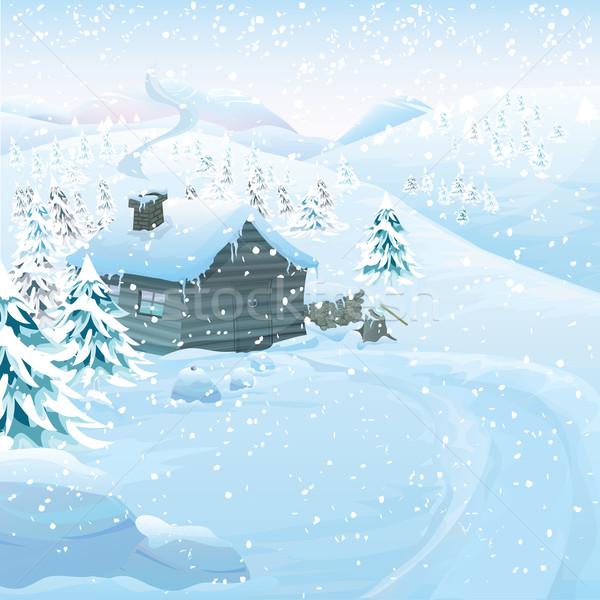 Vector Winter landscape Stock photo © mythja