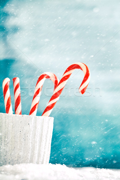Candy canes Stock photo © mythja