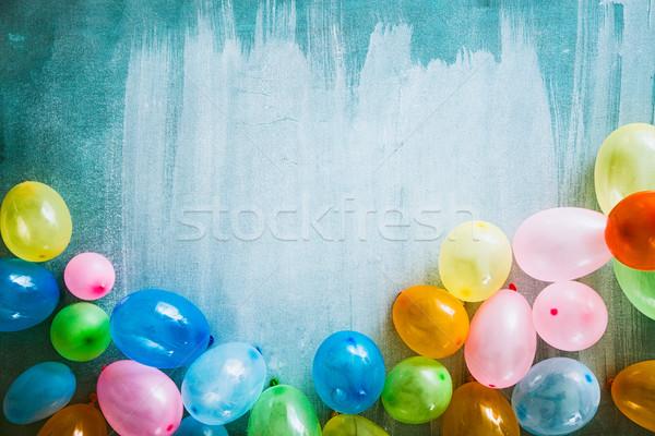 Születésnap tárgyak ünneplés copy space üdvözlőlap buli Stock fotó © mythja
