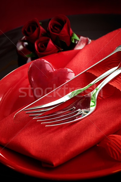 Valentine's day dinner Stock photo © mythja