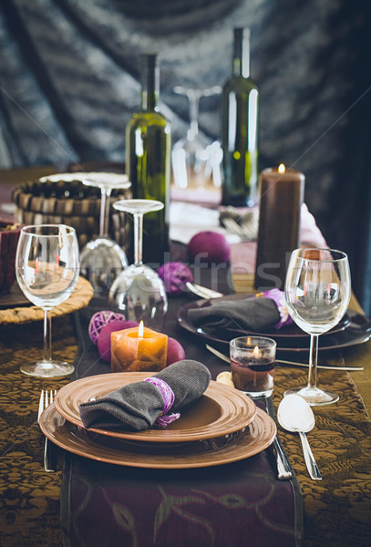 Stock photo: Table setting for dinner