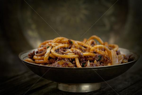 中国食品 卵 麺 牛肉 野菜 食品 ストックフォト © mythja