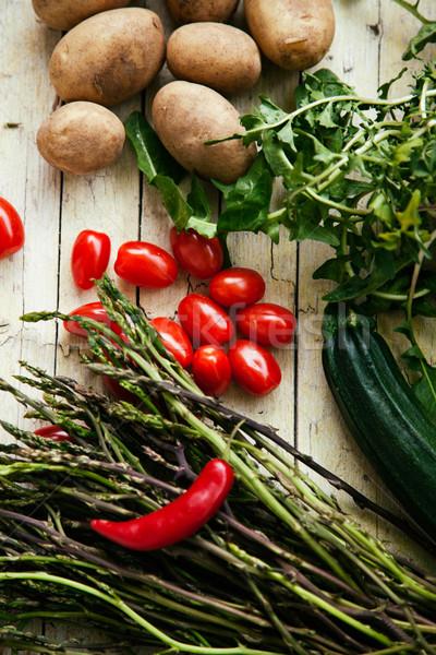 Foto stock: Fresco · orgânico · legumes · comida · alimentação · saudável · folha