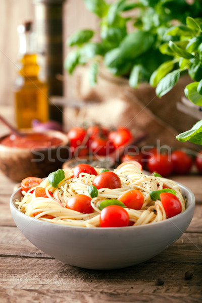 Pasta with olive oil  Stock photo © mythja