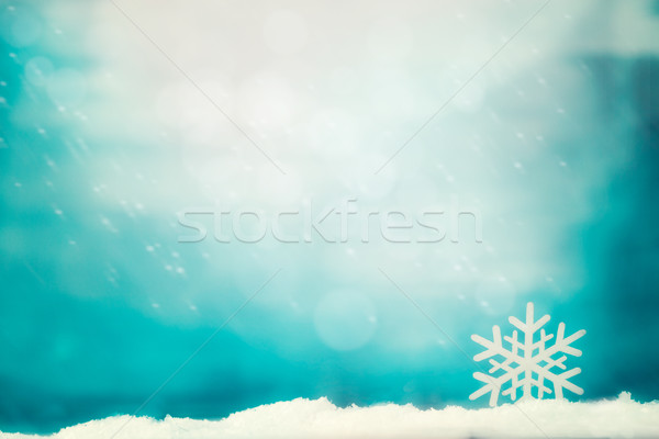 Christmas background on snow Stock photo © mythja