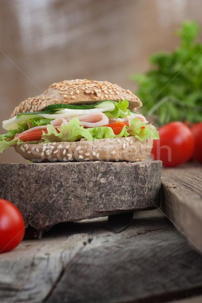 Delicious sandwich Stock photo © mythja