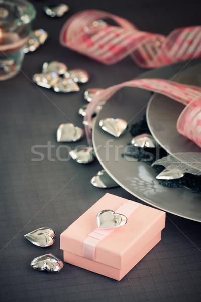 Valentines day dinner  Stock photo © mythja