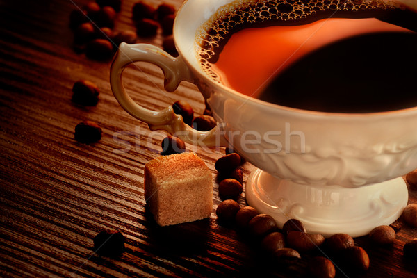 Stock photo: Rustic coffee
