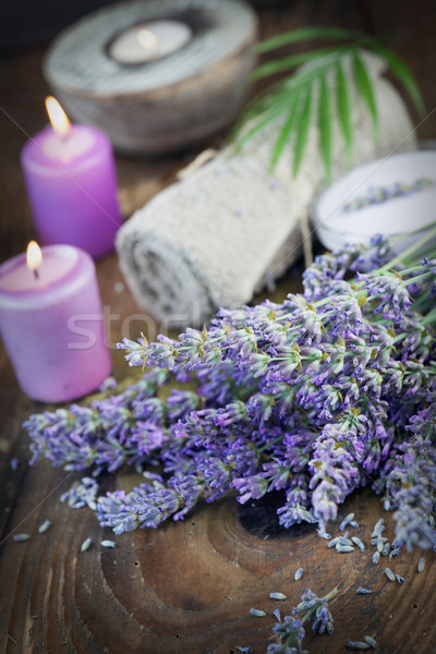 Lavender spa setting Stock photo © mythja