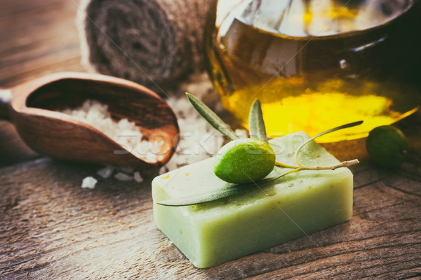 Zdjęcia stock: Naturalnych · spa · oliwy · oliwy · produktów