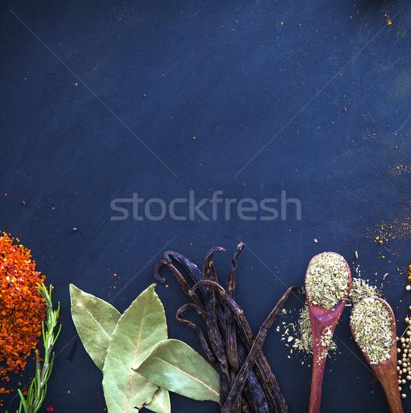 Baharatlar otlar akdeniz gıda arka plan Stok fotoğraf © mythja