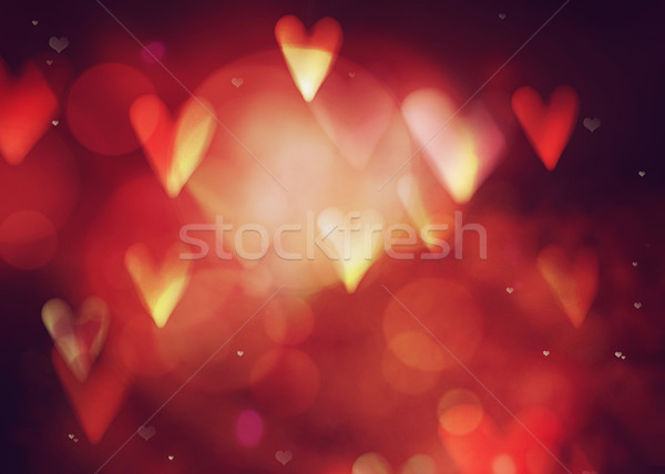 аннотация сердцах bokeh любви Сток-фото © mythja
