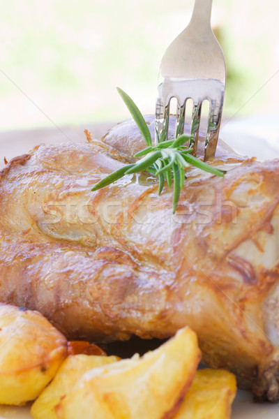 Borjúhús krumpli finom pörkölt sült egészség Stock fotó © mythja