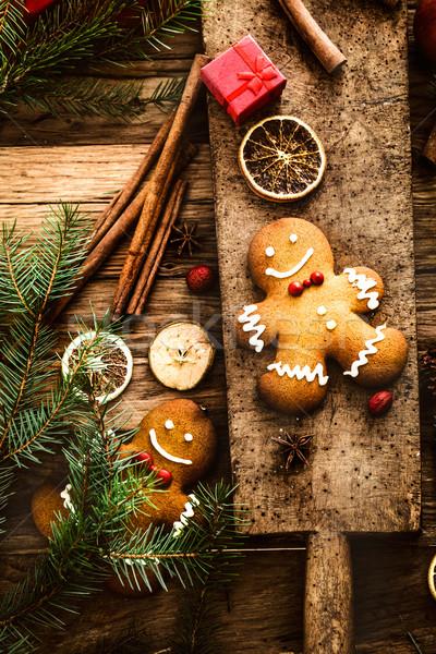 Колобок Cookies Рождества рождество десерта Сток-фото © mythja