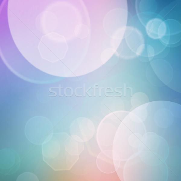 Zdjęcia stock: Bokeh · fioletowy · zielone · niebieski · różowy · pastel