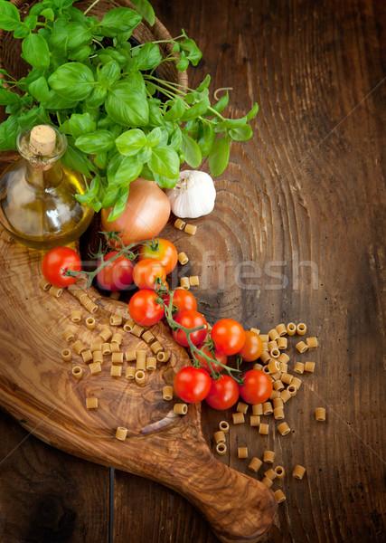 Foto stock: Legumes · frescos · fresco · ingredientes · cozinha · italiana · macarrão · tomates