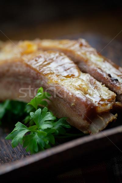 Disznóhús borda finom hús tűz nyár Stock fotó © mythja