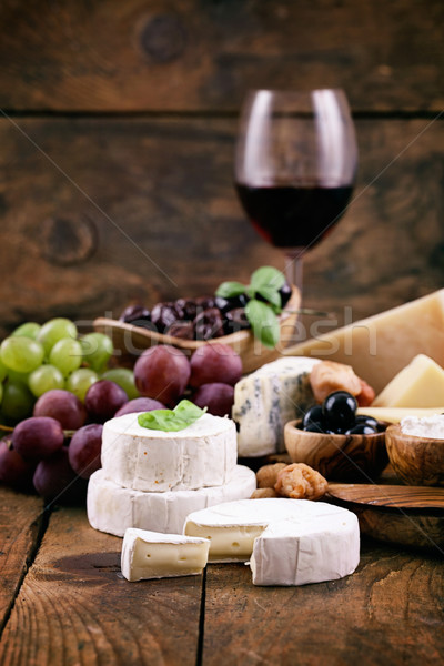 Stockfoto: Italiaans · koken · kaas · vers · ingrediënten · hout