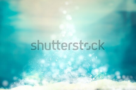 Christmas background on snow Stock photo © mythja