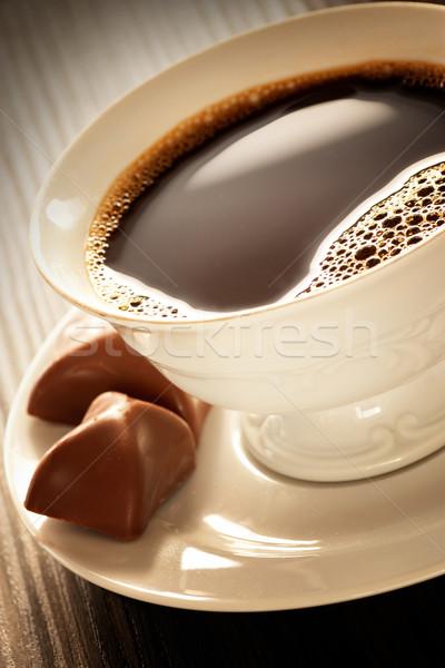 Caffè bianco Cup cioccolato colazione dessert Foto d'archivio © mythja