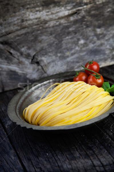 Fresche pasta cottura uovo fatto in casa legno Foto d'archivio © mythja