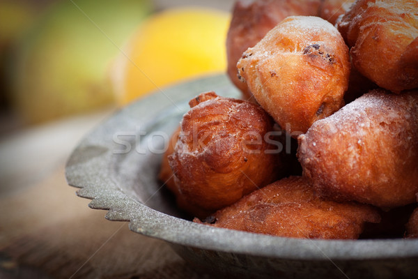 Deep fried fritters donuts Stock photo © mythja